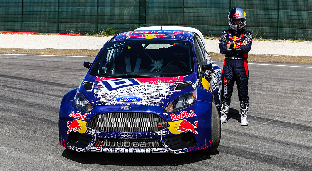Joni Wiman And His Bluebeam Red Bull Omse Ford Fiesta St